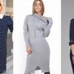 Платья на каждый день 2018-2019 (фото новинки) Для полных дам повседневные платья 2018-2019