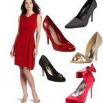 Какие туфли подойдут к красному платью фото, стильные образы