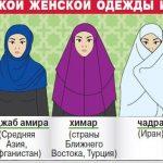Виды хиджабов какие бывают хиджабы, их разновидности