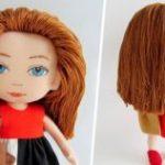 Как сделать кукле волосы из ниток своими руками особенности процесса