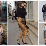 Юбка с леопардовым принтом с чем носить, как подобрать образ