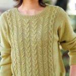 Как связать женский пуловер спицами, крючком, подбор схемы