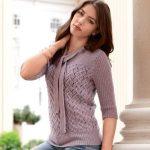 Как связать женский свитер спицами стильный свитер для девушки