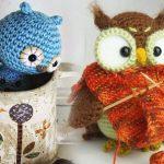 Фото и видео уроки как связать сову и шапку-сову крючком