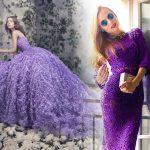 Фиолетовое или сиреневое платье с чем носить фото