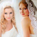 Свадебные прически с фатой фото, новинки 2018