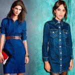 Модные джинсовые платья 2018 фото