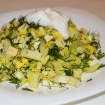 Салат из сельдерея и яиц простой рецепт