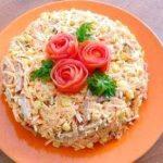 Салат с кукурузой консервированной и колбасой копченой рецепт