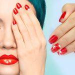 Модный красный маникюр дизайн, идеи, фото