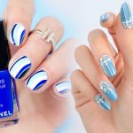 Маникюр лаком голубого цвета — голубой маникюр фото