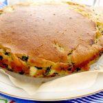 Пирог с зеленым луком и яйцом на кефире