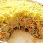 Салат с грибами и курицей рецепт с фото очень вкусный