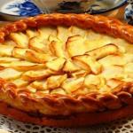 Пирог с яблоками в духовке рецепт с фото