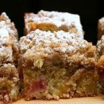 Пирог из ревеня самый легкий рецепт