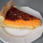 Пирог с тыквой (песочное тесто)