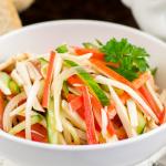 Салат из крабовых палочек рецепт с фото