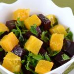 Салат из вареной свеклы и апельсина рецепт