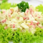 Салат с крабовыми палочками вкусные новые простые