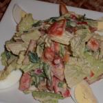 Рецепт салата с пекинской капустой, помидорами и хурмой