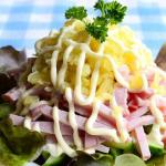 Салат с ветчиной и огурцами рецепт с фото