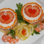 Салат — Комплимент — с креветками и ананасом