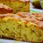 Пирог с грушами рецепт простой с фото