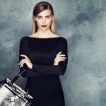 Черное платье-футляр модные образы, аксессуары, фото