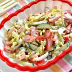 Салат с пекинской капустой, огурцом, помидорами рецепт