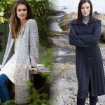 Пальто вязаное спицами — схемы и описание