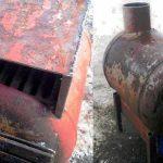 Печь из газового баллона длительного горения, на отработке чертежи