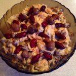 Рецепт салата с печенью, грибами и красной фасолью
