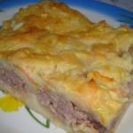 Пирог на скорую руку в духовке на кефире