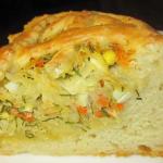 Пирог с капустой в духовке рецепт