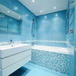Плитка для ванной комнаты, идеи дизайна, много фото
