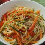 Салат с фунчозой рецепт с фото