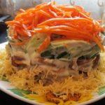 Салат с салат с корейской морковкой