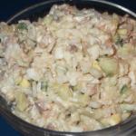 Салат из печени трески классический рецепт
