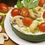 Салат с сыром и запеченным чесноком рецепт