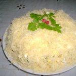Салат невеста с копченой курицей