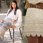 Красивые юбки вязанные крючком — схемы и описание